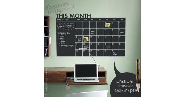 Chalkboard Calendar Walmart : Daily chalkboard wall calendar