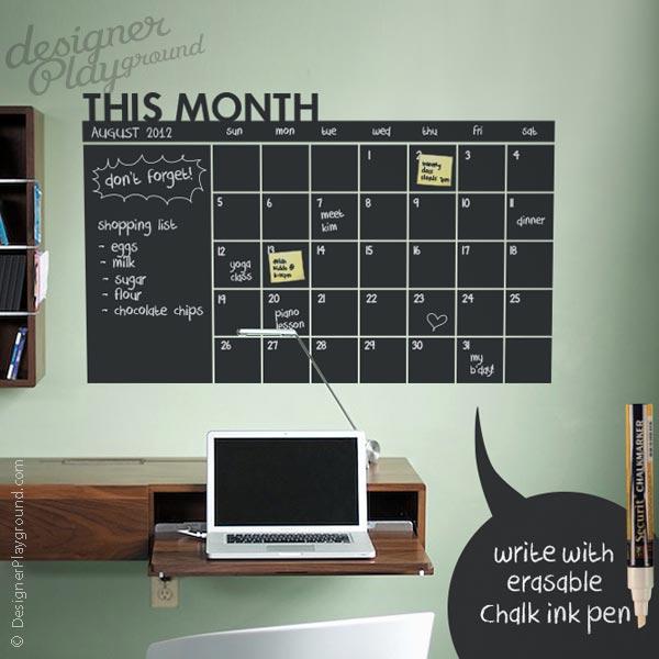 Daily Chalkboard Wall Calendar