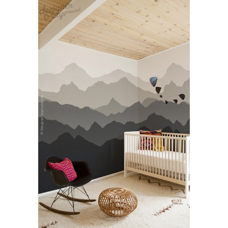 Mountain Scenery Wallpaper Peel And Stick