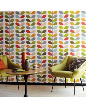 Multi Color Leaves on Stem Wallpaper - Peel & Stick