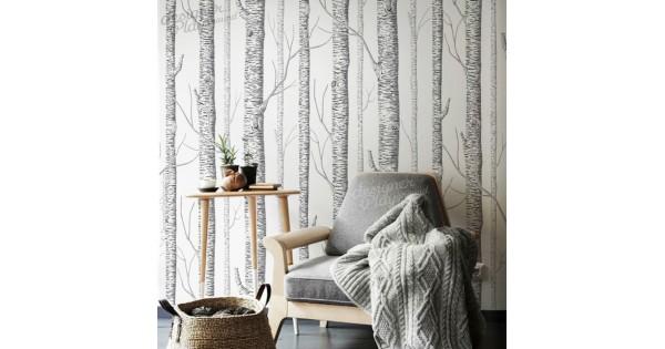 Birch Trees Wallpaper Peel And Stick