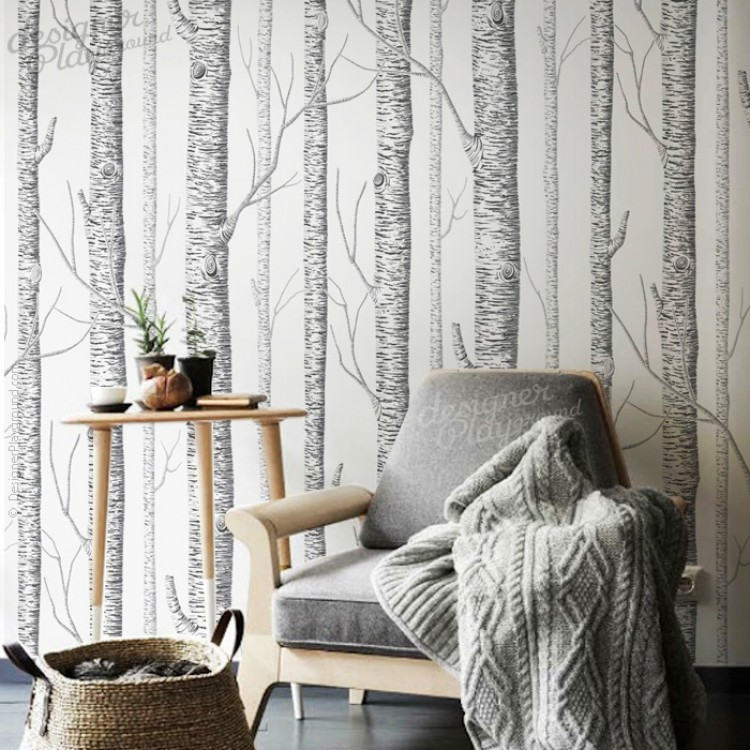 Birch Trees Wallpaper   Peel U0026 Stick