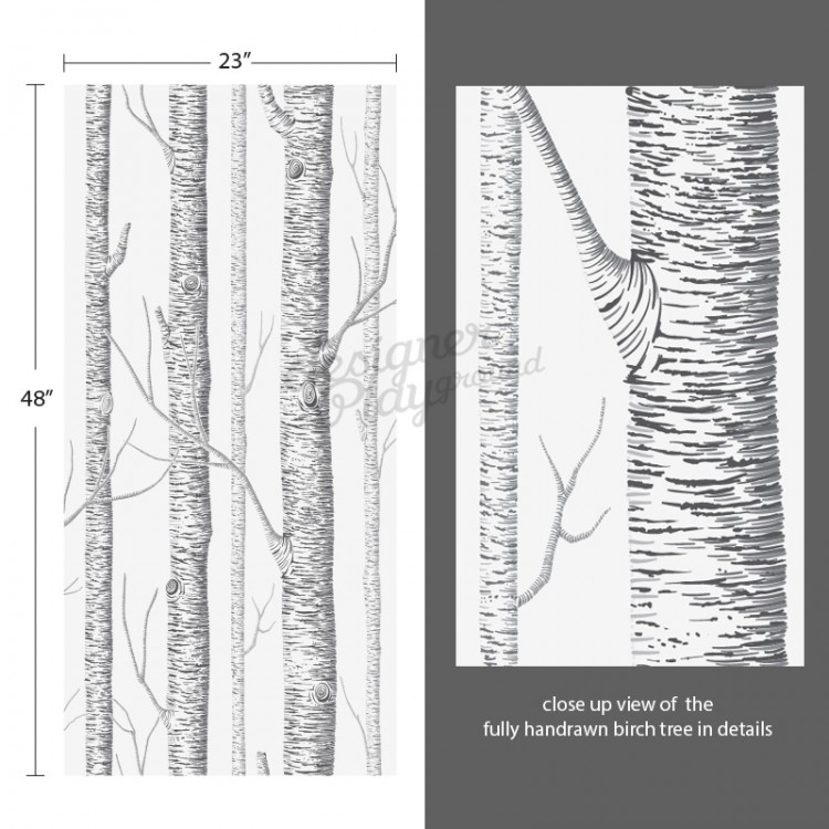 Tree Wall Paper birch trees wallpaper peel and stick