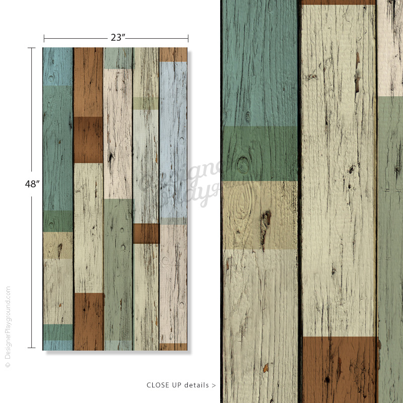 Removable scrap wood wallpaper peel stick for Removable wallpaper wood paneling