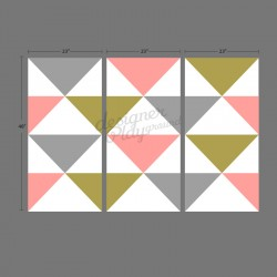 Triangles Geometric Wallpaper - Peel & Stick