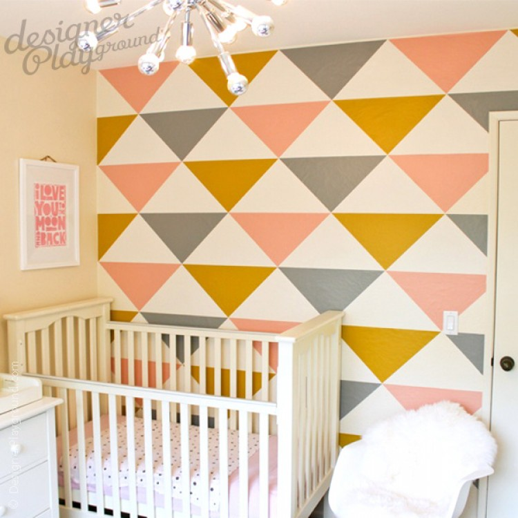 Triangles Geometric Wallpaper   Peel U0026 Stick